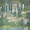 Art Prints of Church in Cassone Landscape with Cypresses by Gustav Klimt