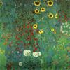 Art Prints of Farm Garden with Sunflowers by Gustav Klimt