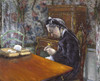 Art Prints of Mademoiselle Boissiere Knitting by Gustave Caillebotte