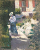 Art Prints of Study for the Dahlia Garden in Gennevilliers by Gustave Caillebotte