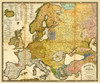 Art Prints of Ethnographic Map of Europe, 1847 (2515071) by Heinrich Berghaus