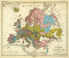 Art Prints of Geological Relationships of Europe (2515031) by Heinrich Berghaus