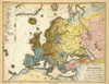 Art Prints of Overview of Europe, 1847 (2515070) by Heinrich Berghaus