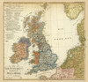 Art Prints of The British Isles, Volker and Languages (2515075) by Heinrich Berghaus