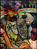 Art Prints of At the New Circus Stained Glass by Henri de Toulouse-Lautrec