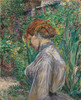 Art Prints of Red-Headed Woman in the Garden by Henri de Toulouse-Lautrec