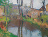 Art Prints of Labastide Green with Bridge by Henri-Jean Guillaume Martin