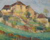 Art Prints of The Great House in Summer, Labastide by Henri-Jean Guillaume Martin