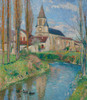 Art Prints of The Church at Labastide Green II by Henri-Jean Guillaume Martin