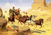 Art Prints of Attack on the Stagecoach II by Herman Wendelborg Hansen