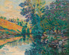 Art Prints of The Lock of Bouchardonnes Creuse by Jean-Baptiste-Armand Guillaumin