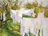 Art Prints of La Biancheria or the Linen by John Singer Sargent