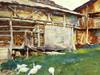 Art Prints of Woodsheds, Tyrol by John Singer Sargent