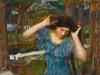 Art Prints of Vain Lamorna, a Study for Lamia by John William Waterhouse