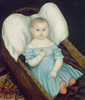 Art Prints of Baby in Wicker Basket by Joseph Whiting Stock