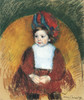 Art Prints of Margot in a Dark Red Costume by Mary Cassatt