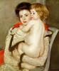 Art Prints of Reine Lefebvre Holding a Nude Baby by Mary Cassatt