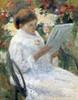 Art Prints of Woman Reading in a Garden by Mary Cassatt