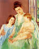 Art Prints of Young Mother and Two Children by Mary Cassatt