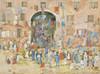 Art Prints of Riva Degli Schiavoni Promenade by Maurice Prendergast