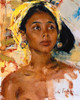 Art Prints of Girl with Bali II by Nicolai Fechin