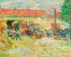 Art Prints of Threshing Wheat by Nikolai Aleksandrovich Tarkhov