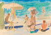 Art Prints of Beach at Sochi, 1937, by Nikolai Andreevich Tyrsa