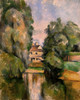 Art Prints of Country House by a River by Paul Cezanne