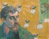 Art Prints of Self Portrait with Portrait of Bernard by Paul Gauguin