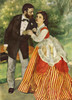 Art Prints of Portrait of the Couple Sisley, 1868 by Pierre-Auguste Renoir
