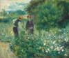 Art Prints of Picking Flowers, 1875 by Pierre-Auguste Renoir