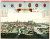 Art Prints of Panorama of Naples, 1704 (392) by Pieter Mortier