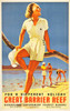 Art Prints of Great Barrier Reef Travel Poster, 1930, Queensland Tourist Bureau