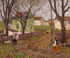 Art Prints of The Village Lane by Robert Spencer
