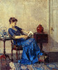 Art Prints of Blue Gown by Robert Spencer