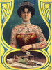 Art Prints of Tattooed Woman, Vintage Poster