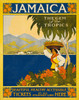 Art Prints of Jamaica, the Gem of the Tropics, Travel Poster by Thomas Cook