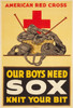 Art Prints of Our Boys Need Sox, Knit Your Bit, American Red Cross Poster