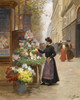 Art Prints of Vegetable Market, Paris by Victor Gabriel Gilbert