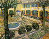 Art Prints of Courtyard of the Hospital in Arles by Vincent Van Gogh