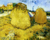 Art Prints of Haystacks in Provence by Vincent Van Gogh