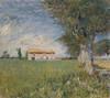 Art Prints of Farmhouse in a Wheatfield by Vincent Van Gogh