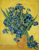 Art Prints of Irises Against a Yellow Background by Vincent Van Gogh