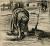 Art Prints of Peasant Woman Planting Potatoes by Vincent Van Gogh