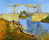Art Prints of The Langlois Bridge with Women Washing by Vincent Van Gogh