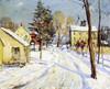 Art Prints of Rural Road in Winter by Walter Baum