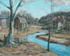 Art Prints of Village Along the Canal by Walter Baum