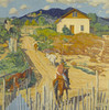 Art Prints of House on a Hill by Walter Ufer