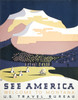 Art Prints of See America, Welcome to Montana (399155), Travel Poster