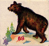 Art Prints of Game Piece, Bear, Vintage Game Pieces & Playing Cards